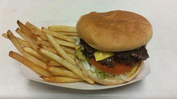 Hamburger from Sweet's Shop