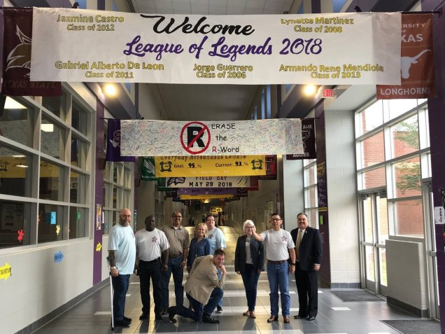 Rogelio Trevino ED WFS South Texas takes TWC Program staffers on a tour of LBJ High School in Laredo, to see JET and Dual Credit funding at work.