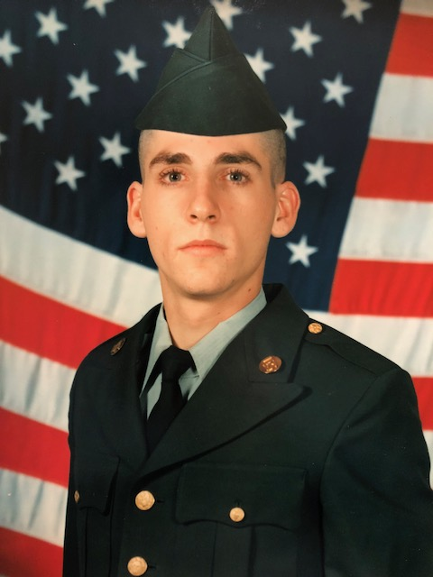 U.S. Army Spc. David Beadle's basic training graduation photo