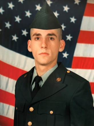 U.S. Army Spc. David Beadle's basic training graduation photo