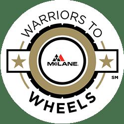 McLane Southwest's Warriors to Wheels Logo