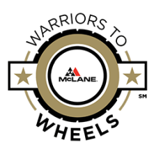 McLane Southwest's Warriors to Wheels Logo